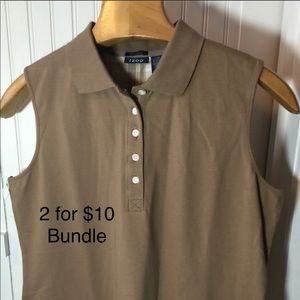 SALE 2 for $10 Bundle Collard knit shirt by Izod